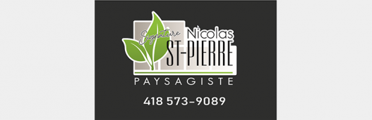 Signature Nicolas St-Pierre paysagiste