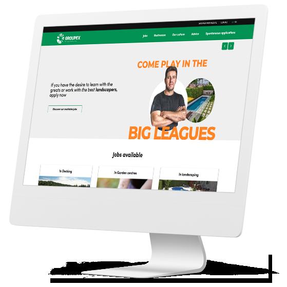Groupex talents website